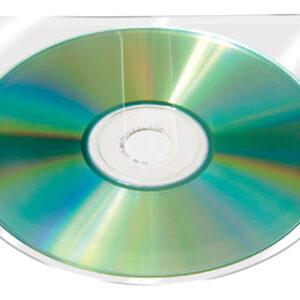 PACK 10 FUNDAS PP ADHESIVA PARA CD/DVD Q-CONNECT KF27030