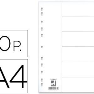 SEPARADOR 10 POSICIONES A-4 CARTULINA Q-CONNECT KF34029