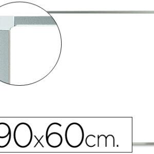 Pizarra blanca q-connect melamina marco de aluminio 90×60 cm. KF37015