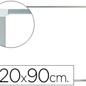 PIZARRA BLANCA MELAMINA 120 X 90 C/MARCO ALUMINIO Q-CONNECT KF37016