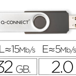 Q-CONNECT MEMORIA USB FLASH 32 GB 2.0