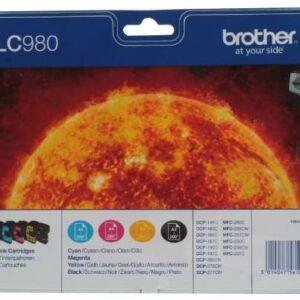 BROTHER Cartuchos Inyeccion LC980 Negro/Amarillo/Cyan/Magenta Pack 4 0 LC980VALBP