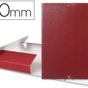 Carpeta proyectos liderpapel folio lomo 50mm carton gofrado roja.