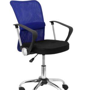 PYC Silla Cardenete respaldo malla azul asiento negro