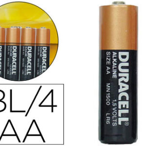 PACK 4 PILAS DURACELL AA SIMPLY 1.5V