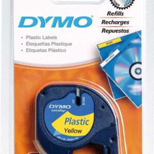 DYMO Cinta Rotuladora letratag 12 mm x 4 m Negro/Amarillo