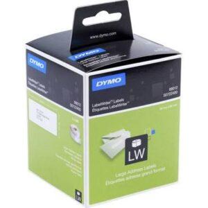 DYMO Etiqueta adhesiva 99012 -tamaño 89×36 mm para impresora 400 260 etiquetas