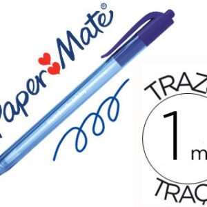 PAPER MATE Bolígrafo retractil Inkjoy 100 RT 1 mm AZUL