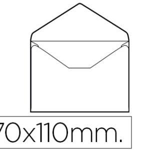 CAJA 100 SOBRES TARJETA DE VISITA 70×105 mm SOLAPA PICO LIDERPAPEL SB03