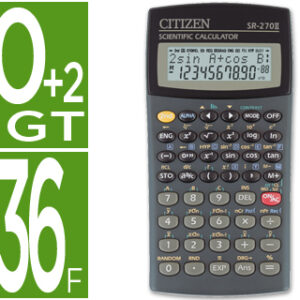 CALCULADORA CIENTIFICA CITIZEN SR-270 10+2 DIGITOS SR-270N
