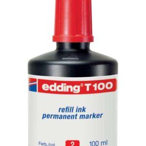 EDDING Frasco de Tinta  T-100 rojo 100 ml T100-02