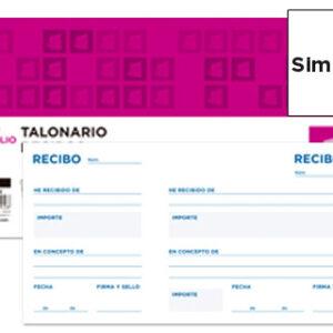 TALONARIO RECIBOS C/MATRIZ  1/3 APAISADO LIDERPAPEL
