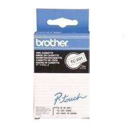 BROTHER Cinta Negro/Blanco 12mmx7.7m TC201