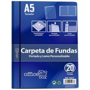 OFFICE BOX CARPETA OFFICEBOX DIN A-5 20 FUNDAS NEGRA