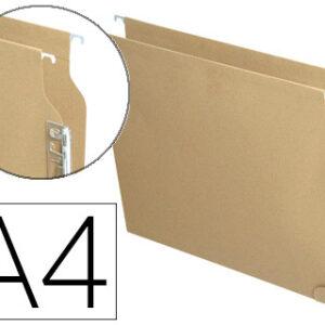 Caja 25 uds. Carpeta colgante Aku A4 Kraft Visor lateral 400064812