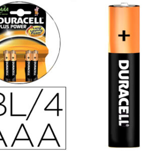 PACK 4 PILAS RECARGABLE DURACELL AAA