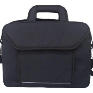 Maletin para portatil q-connect 15,4″ negro 1 asa 2 bolsillos exteriores medidas 390x290x90 mm.