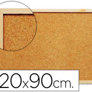 TABLERO DE ANUNCIOS CORCHO 90×120 cm MARCO DE MADERA
