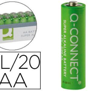 Q-CONNECT PAQ. 20 PILAS ALCALINAS AA 1,5V