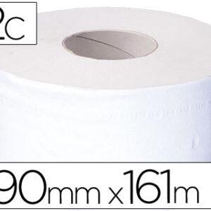 Papel higienico jumbo 2/c blanco-mandril de 62,5 mm -para dispensador 325