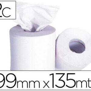 Papel secamanos 2 capas 199 mm x 135 mt -mandril 76 mmdiametro 197 mm.