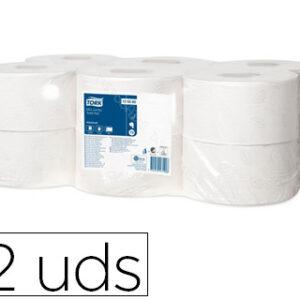 TORK Papel higienico Pack 12 rollos 1214 servicios 2 capas Para T2