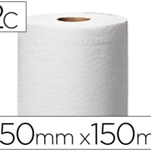 Papel secamanos central 2 capas 150,2 mts para dispensador m2 rollos.