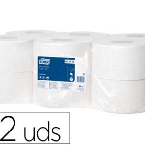 Papel higienico tork minijumbo 1 capa 290 mt para dispensador t2.