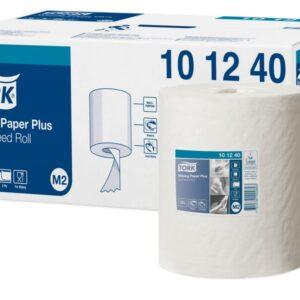 Papel secamanos tork extra ancho 215 mm largo 160 mt 2 capas para dispensador m2 paquete de 6 uds.