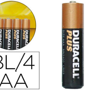 DURACELL Pilas Alcalinas Plus AA LR6 Pack 4 ud