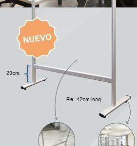 ROCADA Panel de protección de sobremesa acabado acrílico 43x93x42cm