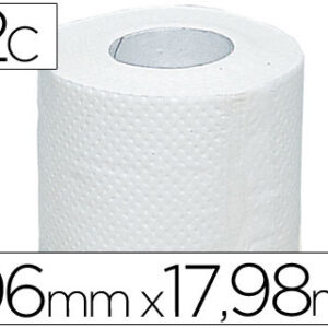 Papel higienico olimpic 2 capas-96,3mm ancho x 17,98m largo paquete de 4 rollos.