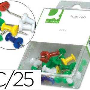 Señalizador de planos q-connect -caja de 25 unidadescolores surtidos