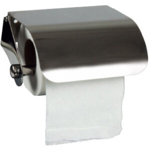 Dispensador q-connect de papel higienico acero inoxidable 122x98x45 mm.