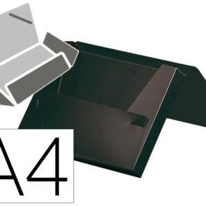 Carpeta liderpapel portadocumentos gomas polipropileno din a4 negro opaco lomo 25 mm.