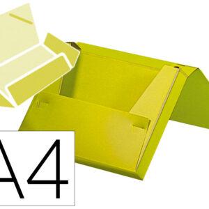 Carpeta liderpapel portadocumentos gomas polipropileno din a4 amarillo fluor opaco lomo 25 mm.