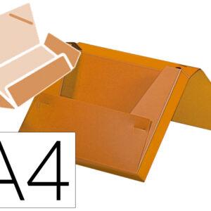 Carpeta liderpapel portadocumentos gomas polipropileno din a4 naranja fluor lomo 25 mm.