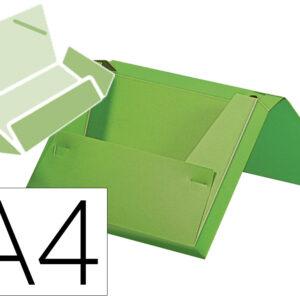 Carpeta liderpapel portadocumentos gomas polipropileno din a4 verde manzana opaco lomo 25 mm.