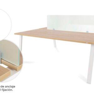 ROCADA Panel separador para mesas de oficina 136x40x1cm