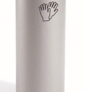SISPLAMO Papelera metálica de reciclaje de 45L