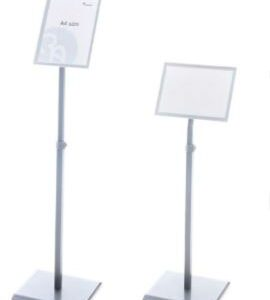 ROCADA Panel informativo A4 metálico regulable en altura