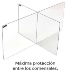 ROCADA Panel separador acrilico de sobremesa en forma de cruz 120x50x80cm