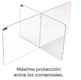 ROCADA Panel separador acrilico de sobremesa en forma de cruz 60x50x80cm