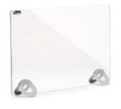 ROCADA Pantalla protectora de sobremesa cristal templado 85x50x14cm