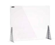 ROCADA Pantalla protectora de sobremesa cristal templado regulable 85x70x26cm con ventana