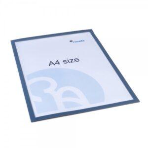 ROCADA Funda magnética imantada gris DIN A4 (pack 5uds)