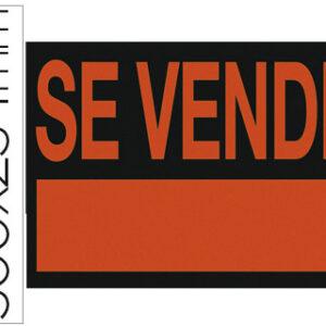 """LIDERPAPEL Cartel plastico """"se vende"""" rojo fluorescente -500×234 mm."""