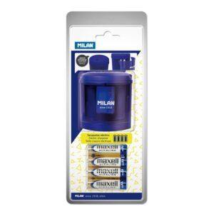 MILAN Sacapuntas eléctrico Power Sharp azul acid