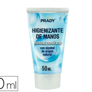 Gel hidroalcoholico higienizante de manos con alcohol de origen natural bote de 50 ml.
