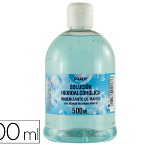 Gel hidroalcoholico higienizante de manos bote de 500 ml.